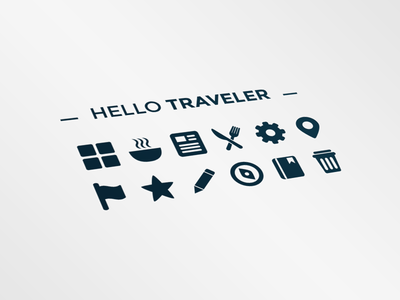 Hello Traveler icon set