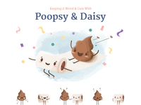 Poopsy & Daisy Sticker pack