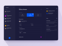 Contacts Page - Dark Mode