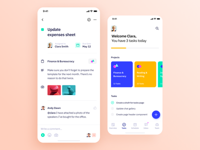 Indigo DS - Task Page interaction design system ios mobile ux clean typography vibrant project task app task colours interface ui app design