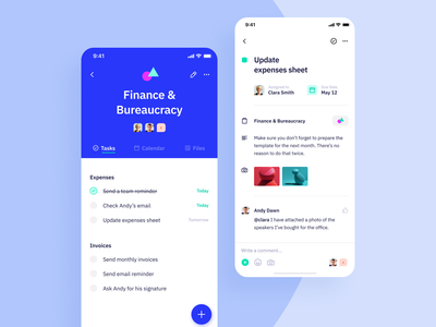 Indigo Ds  - Project page app ui interface colours task task app project vibrant typography clean ux mobile ios design system interaction