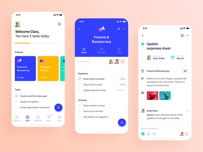 Indigo Ds - Tasks Grid app ui interface colours task task app project vibrant typography clean ux mobile ios design system interaction