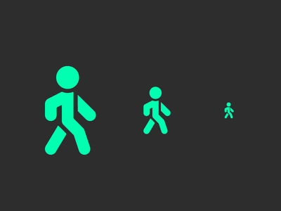 Watch Out rounded corners entrance walking icon pedestrian