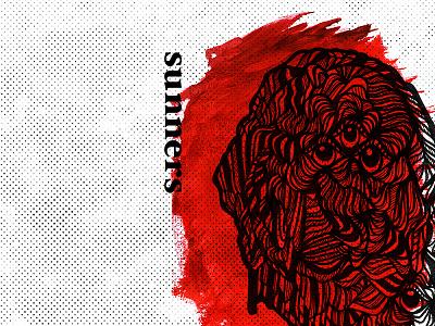 sunners punk diy skramz music band layout album artwork sunners