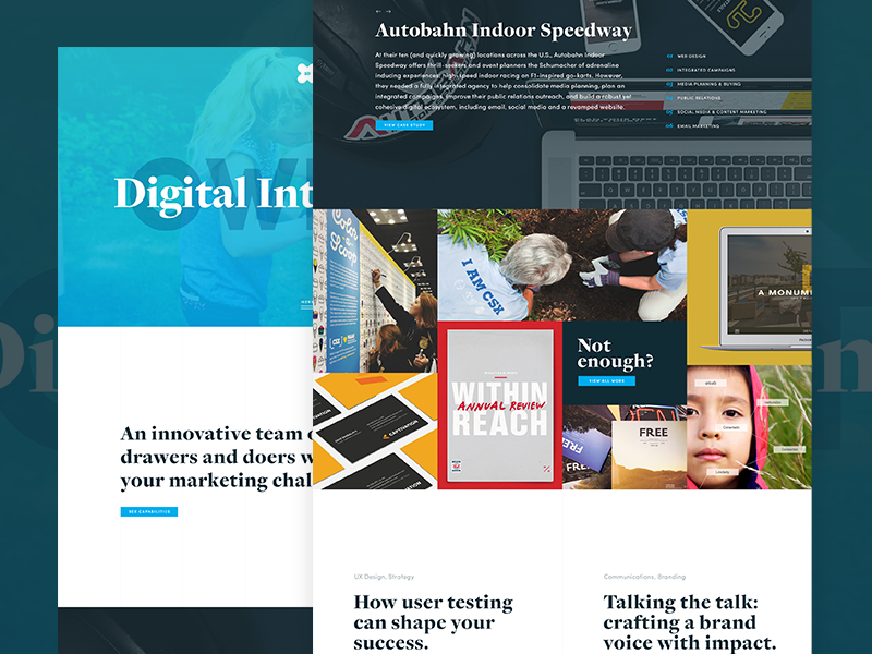 Exit10 Website Concept agency case studies portfolio exit10 redesign
