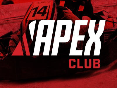 Apex Club electric go karts karting lockup logo club apex autobahn