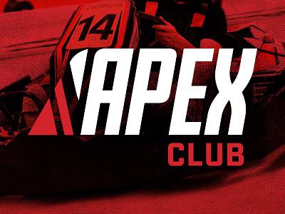 Apex Club electric go karts karting lockup logo club apex autobahn