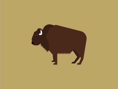 Bison illustration design animal bison drawing screen print animal kingdom animals geometric