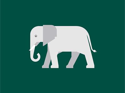 Elephant illustration design animal elephant drawing screen print