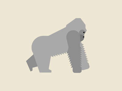 Gorilla illustration animal kingdom animals gorilla illustration geometric
