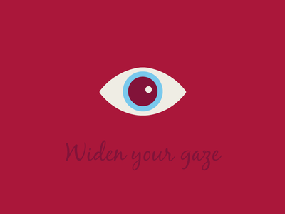 Widen Your Gaze design illustration icon eye gaze eyes symbol identity