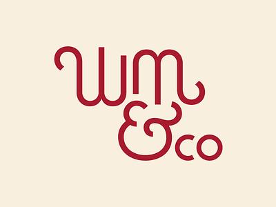 William & Co lettering font type brand ampersand branding logo pub typography
