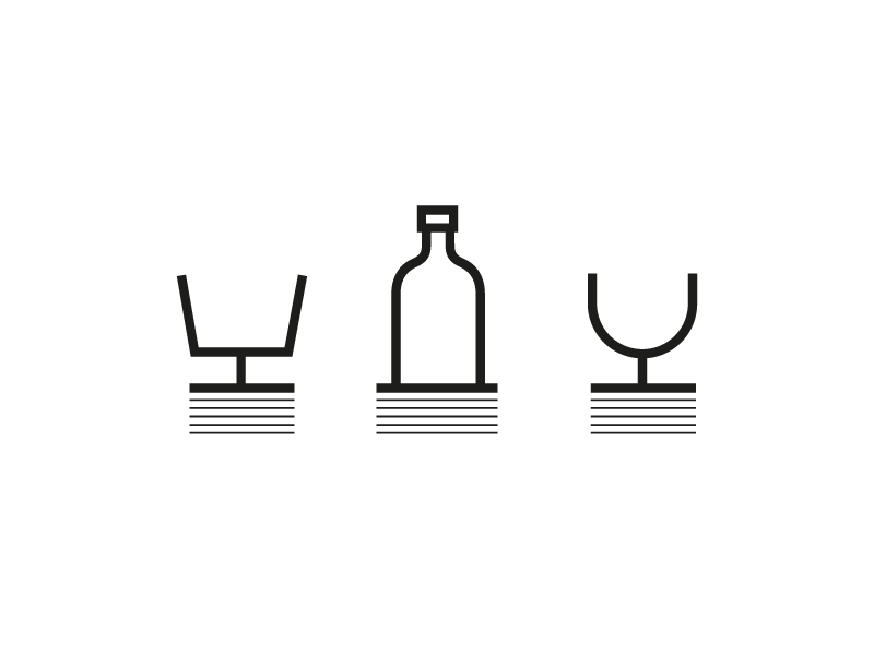 Pub drink iconography stack paper drink restaurant pictograms iconography bottle icons glass icon pub