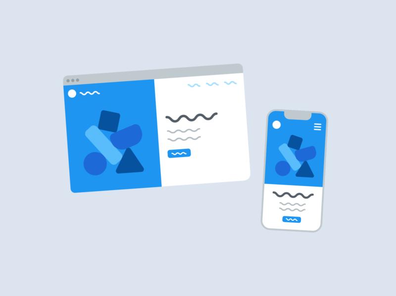Desktop and Mobile Website Illustration