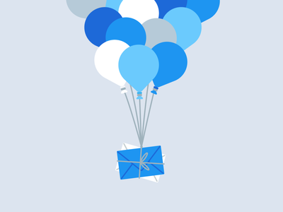 Mail Delivery email baloons mail contact page contact us blue vector minimal illustration design simple contact
