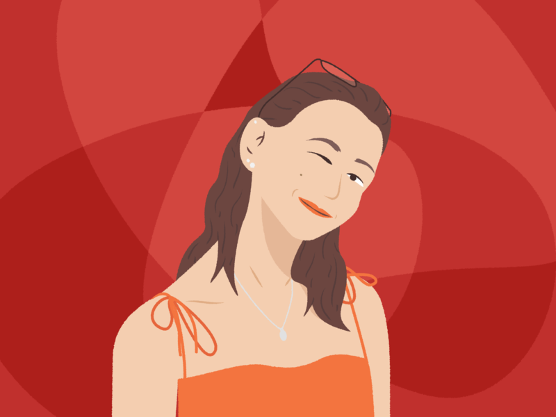 Sophia Illustration portrait person simple vector minimal illustration