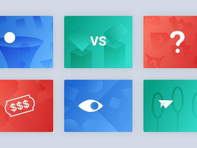 Minimal Blog Illustrations webflow blog post gradient cover vector minimal design simple illustration blog