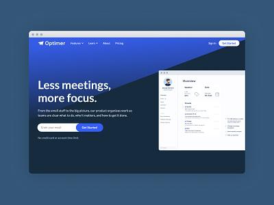 Optimer SaaS Webflow Template saas website website ui ux simple design
