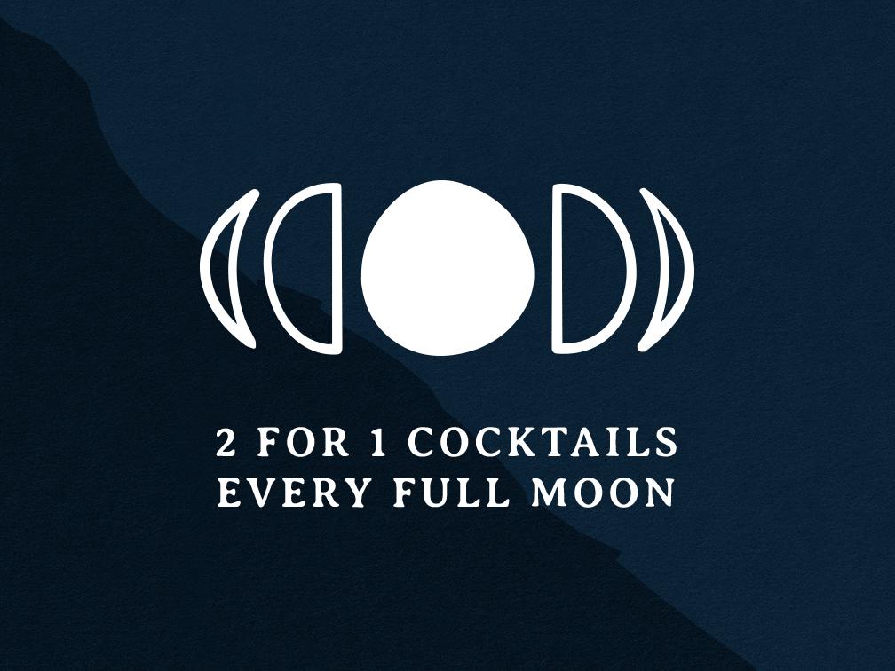 Full Moon icon logo typography design daily simple branding