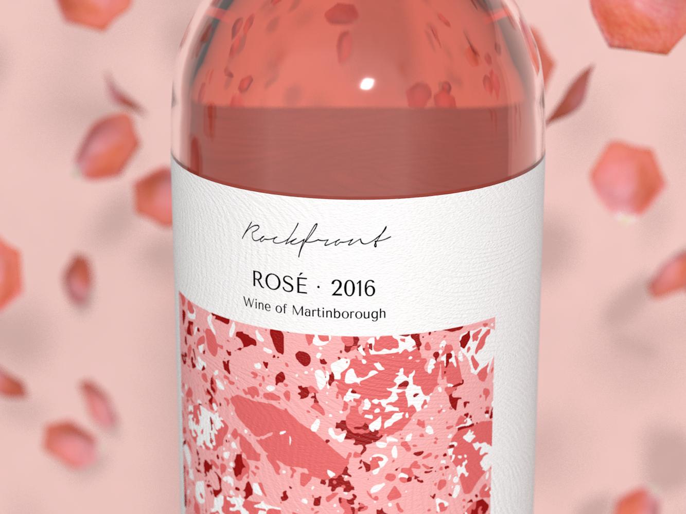 Rosé Wine pink wine cinema4d 3d art 3d typography logo branding daily design simple