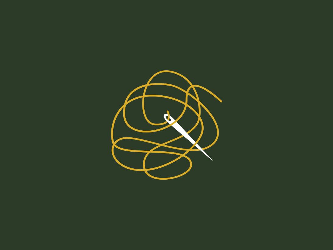 Lost Threads Logo icon branding logo daily design simple
