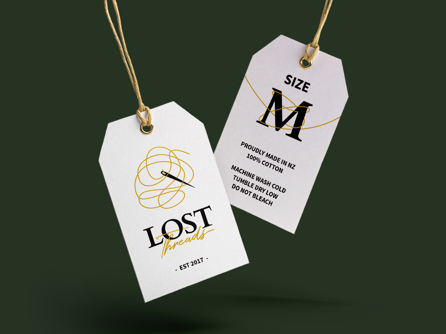 Lost Threads Tags clothing tags clothes 3d art 3d logo branding simple