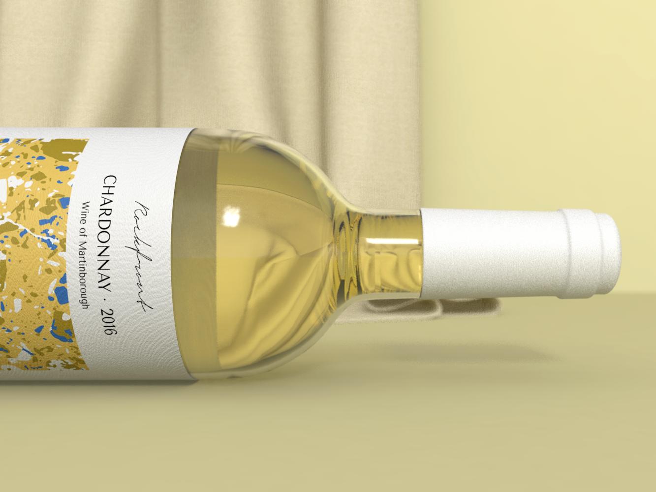 Rockfront Wine wine daily branding design cinema4d 3d art 3d simple