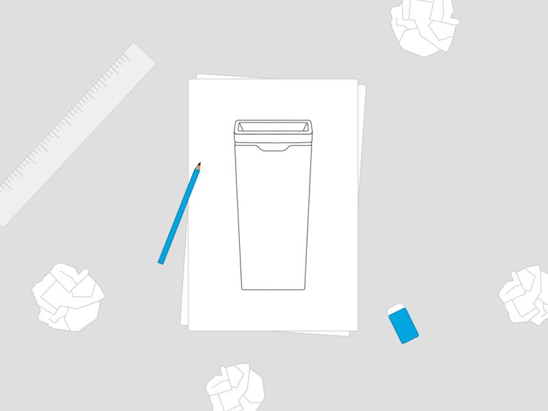 Method Recycling Sketch Illustration