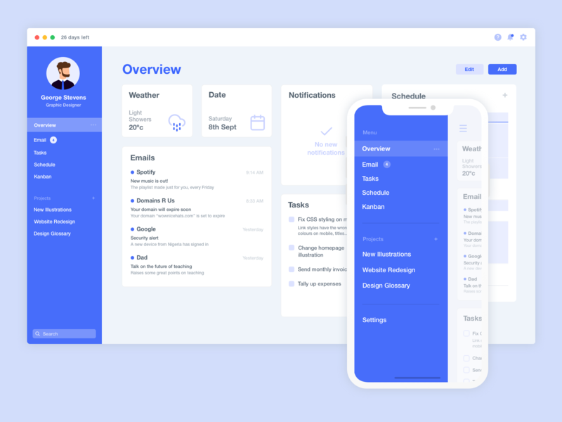 Minimal Morning Overview Dashboard