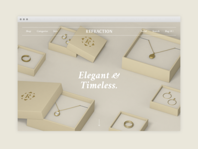 Refraction Jewellery Landing Page