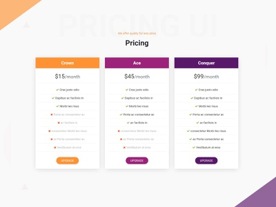 Pricing Card UI Design one page site one page design sass html bootstrap 4 pricing pricing tables pricing plan pricing table pricing page card minimalist adobe xd material design card design