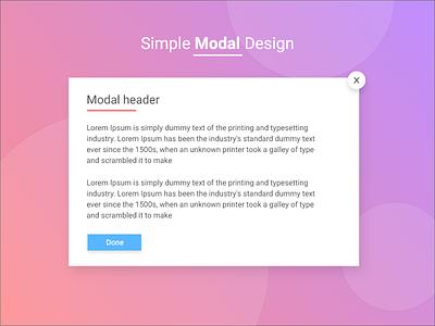 Simple Modal Design modal popup window