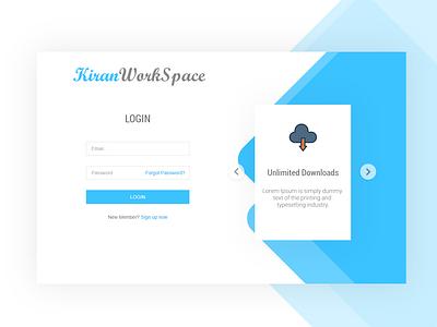 Login Form With Feature Slider adobexd adobe xd mockup box design card design minimalist material design features page login design login page login form