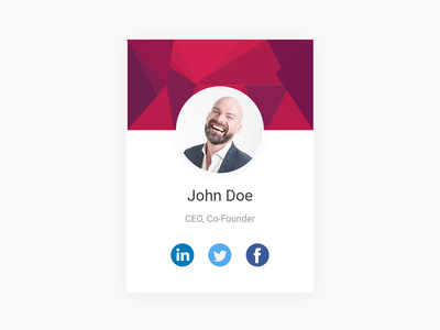 Our Team Single ui illustration gradient design about us adobexd material design minimalist features page card design box design adobe xd our team team profile design profile card card