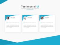 Testimonial UI Customer reviews