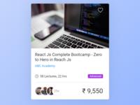 Course Card UI Design