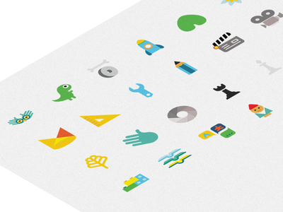 Icons Bufnita din Tei children colored icons brand identity