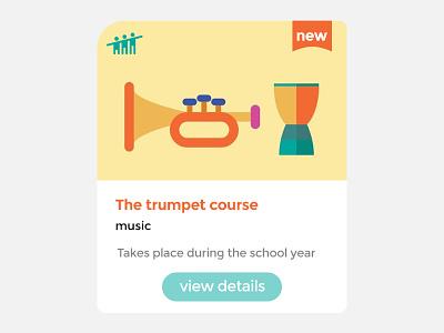 Music course card school course card