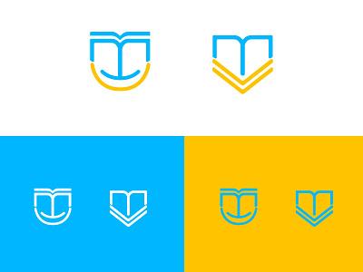 Learning school monogram icon design brand logo design logo