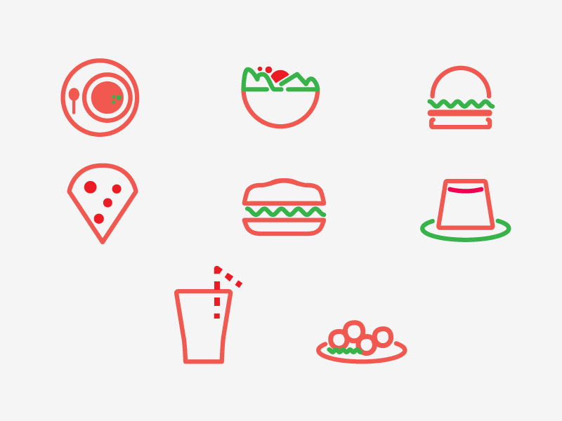WP Café del Museo icons restaurant food icon identity menu wire design