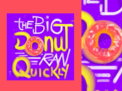 The Big Donut draw lettering sketch food color ilustration