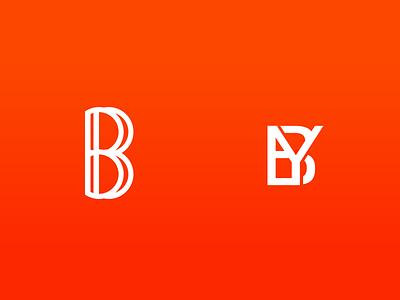 BY branding letter b logo monogram