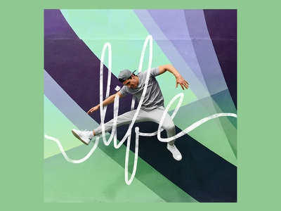 Daniel Corral lettering 'life' photo lettering athlete olympic olympian