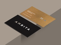 Ambita monterrey texture foil identity branding interior design design
