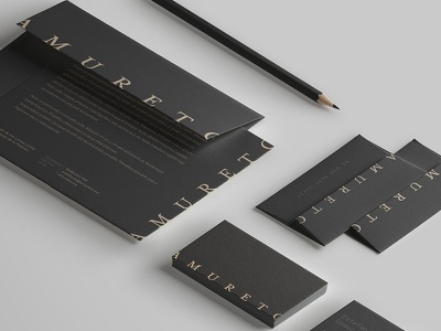 Amureto WIP monterrey rebrand business card identity branding