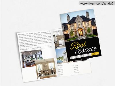 Bi-Folder - Real Estate flyer graphic design brochure bi folder real estate