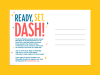 Mad Dash Postcard Back