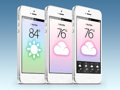 Tempº - DONE! app app design app development icons weather icons illustration iphone ui ux mobile mobile app