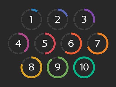 Rating System rebound illustration circle app ios rating rating system design ui ux mobile mobile ui red orange yellow green blue purple app rating