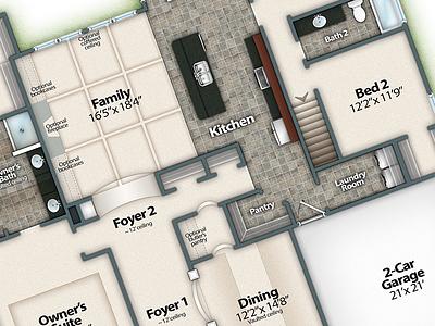 Floorplan Illustration illustration design architecture floorplan floor plan rendering